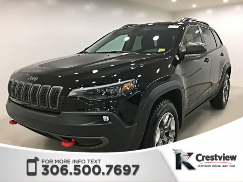 New Jeep Cherokee Trailhawk 4x4 V6 | Heated Seats and Steering Wheel | Remote Start | Apple CarPlay | Android Auto
