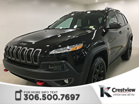 2018 Jeep Cherokee Trailhawk Leather Plus 4x4 V6 | Sunroof | Navigation