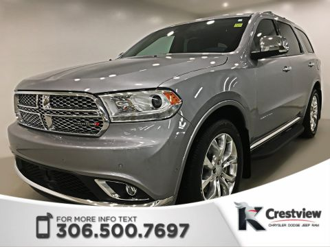 Certified Pre-Owned 2018 Dodge Durango Citadel AWD V6 | Sunroof | Navigation | DVD