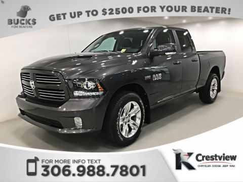 2017 Ram 1500 Sport Quad Cab | Leather | Sunroof