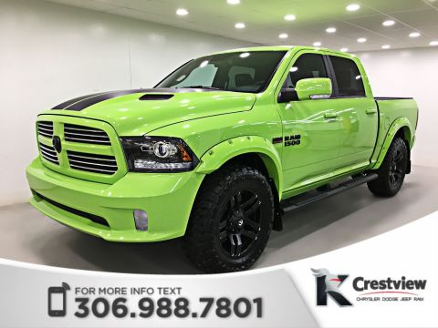 New Ram 1500 Sublime Sport Crew Cab Levelling Kit | Wheel & Tire Package | Flares | Sunroof | Navigation