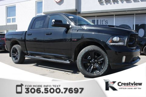 2018 Ram 1500 Sport Crew Cab | Leather | Sunroof | Navigation | RamBox