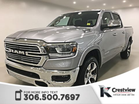 2019 Ram 1500 Laramie Crew Cab | Panoramic Sunroof | 12 Touchscreen | Navigation
