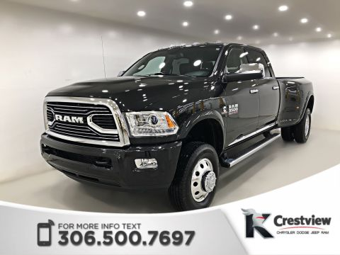 2017 Ram 3500 Limited Crew Cab DRW | Heated and Ventilated Seats, Sunroof | Navigation