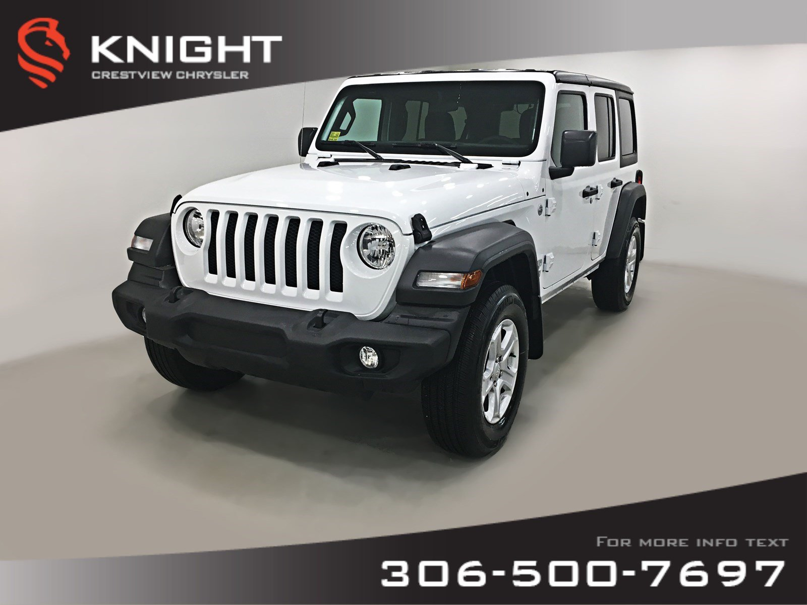 New 2019 Jeep Wrangler Unlimited Sport 'S' | Heated Seats and Steering Wheel | Remote Start