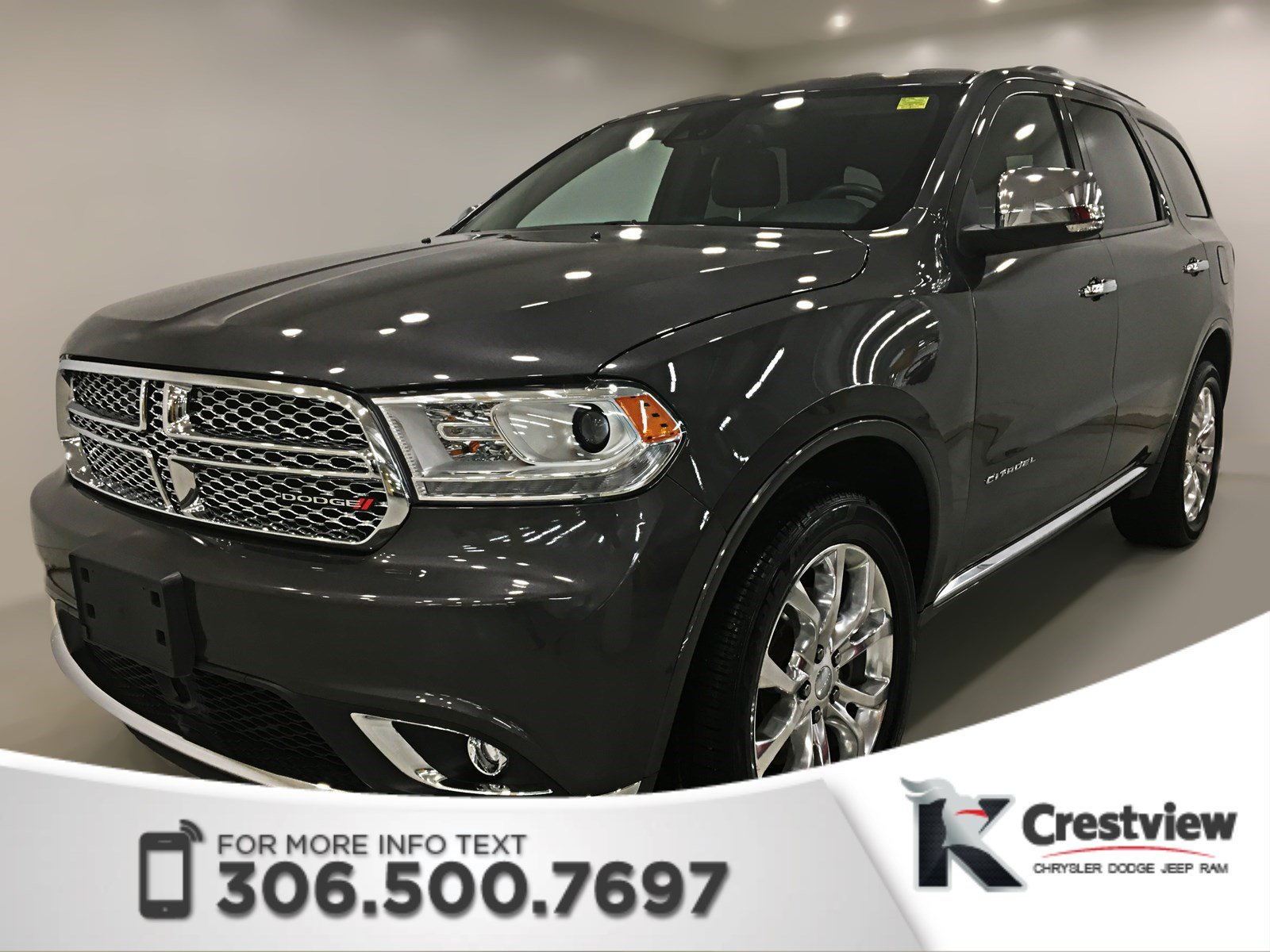 Certified Pre Owned 2016 Dodge Durango Citadel Awd V6 Sunroof Navigation Dvd