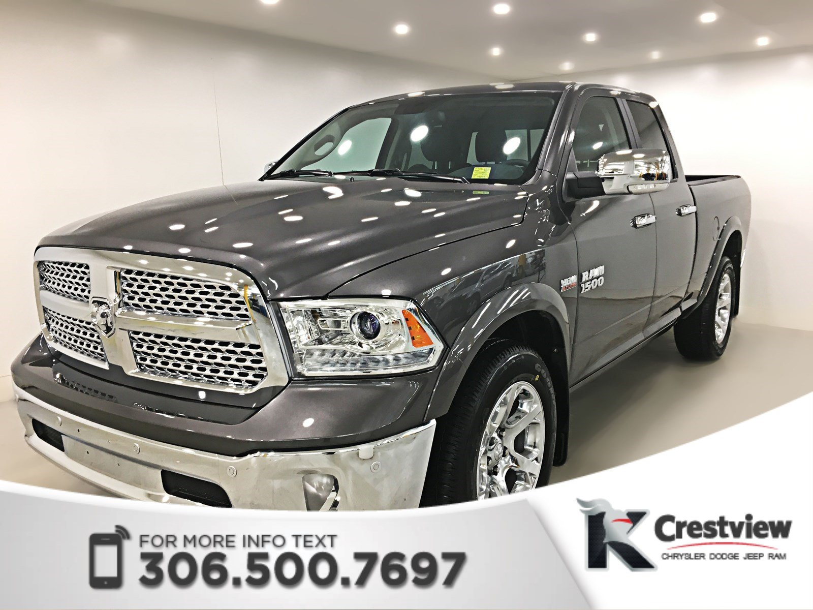 Certified Pre-Owned 2017 Ram 1500 Laramie Quad Cab | Ventilated Seats | Sunroof | Remote Start