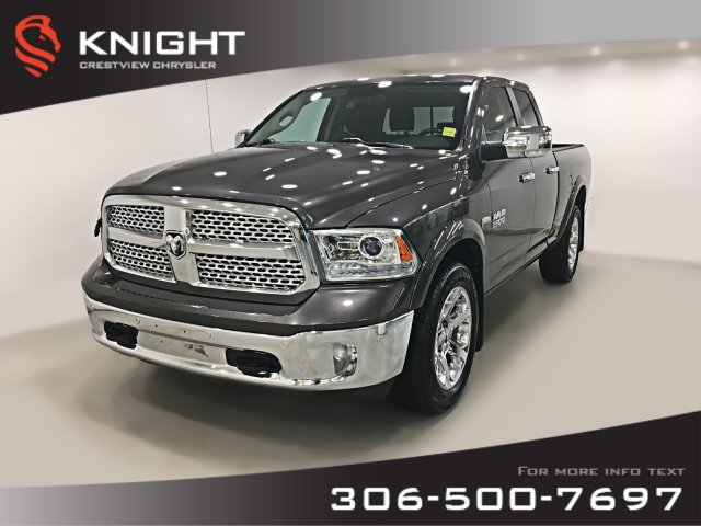 Certified Pre-Owned 2016 Ram 1500 Laramie Quad Cab | Ventilated Seats |  Navigation | Remote Start 4WD Quad Cab Pickup