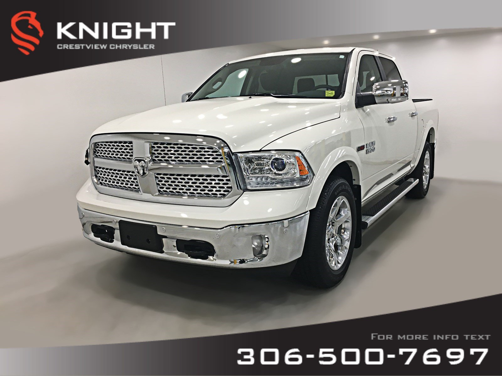 Pre-Owned 2018 Ram 1500 Laramie Crew Cab EcoDiesel | Remote Start