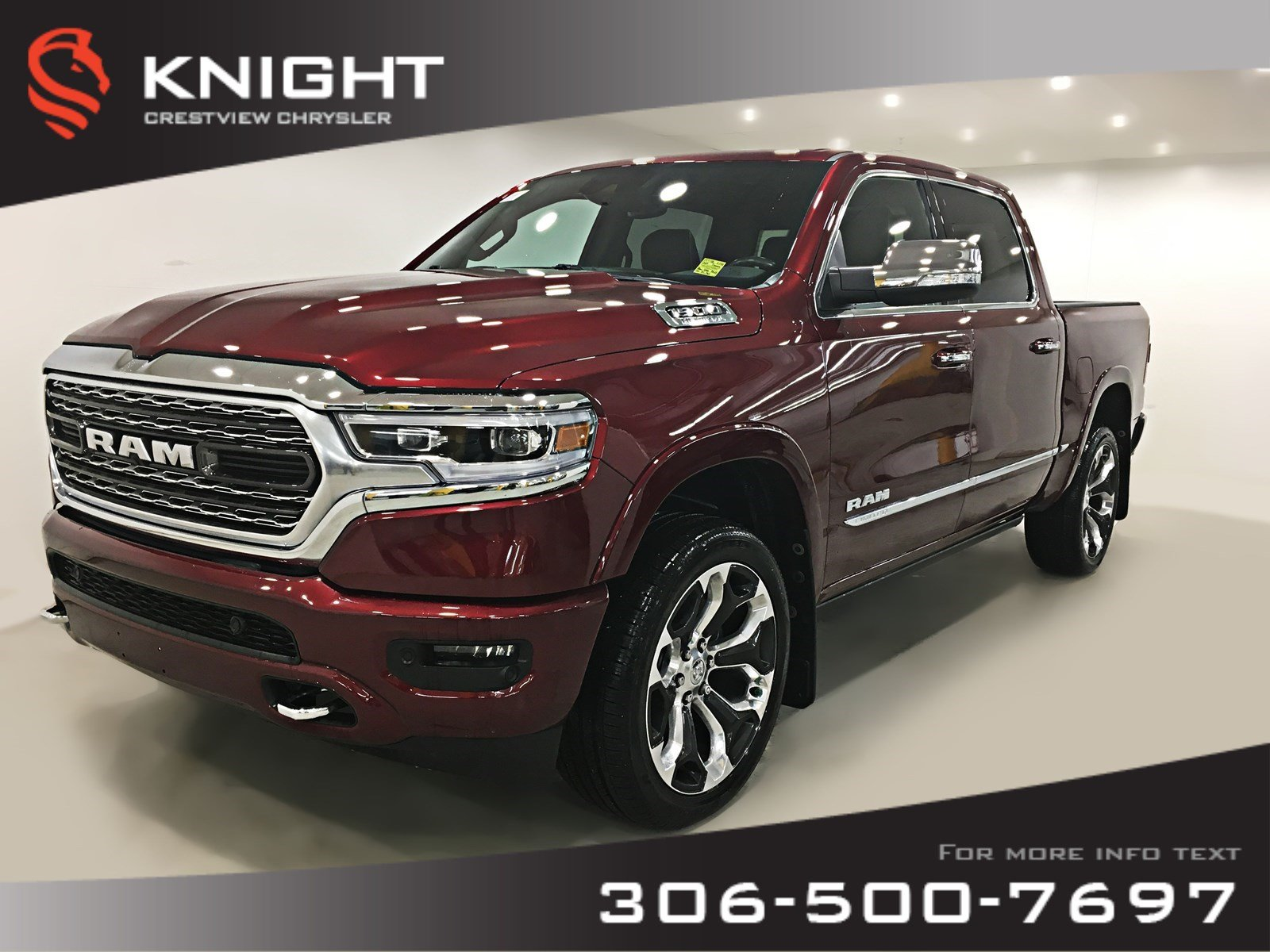 Certified Pre-Owned 2019 Ram 1500 Limited Crew Cab | 12 Touchscreen | Leather | Sunroof | Navigation