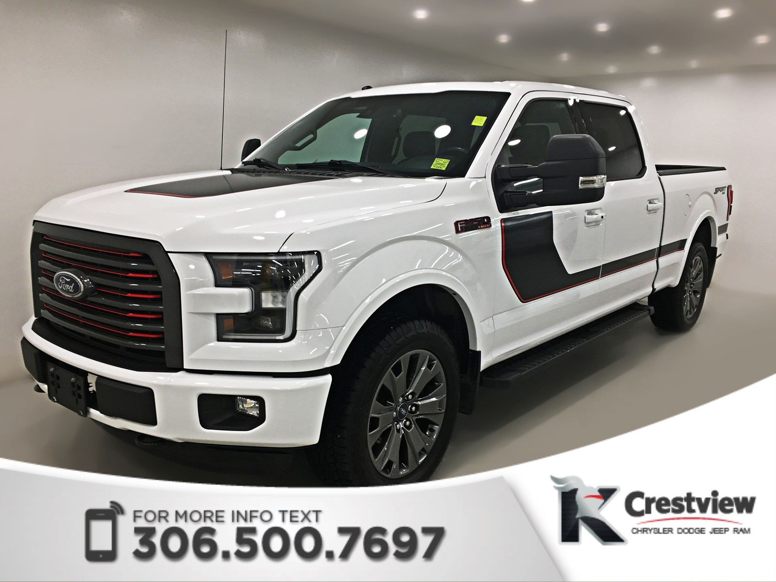 used 2016 ford f 150 lariat supercrew leather remote start crew cab pickup near moose jaw. Black Bedroom Furniture Sets. Home Design Ideas