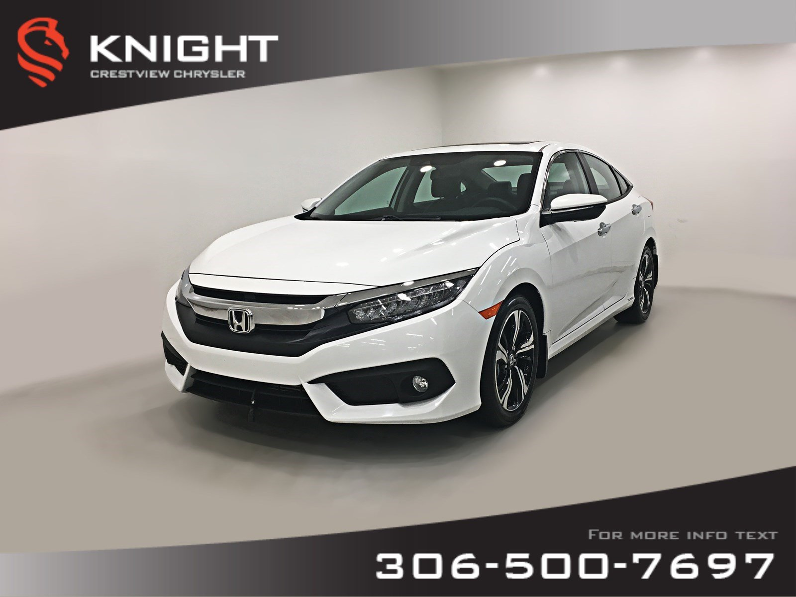 Certified Pre-Owned 2016 Honda Civic Sedan Touring | Leather | Sunroof | Navigation