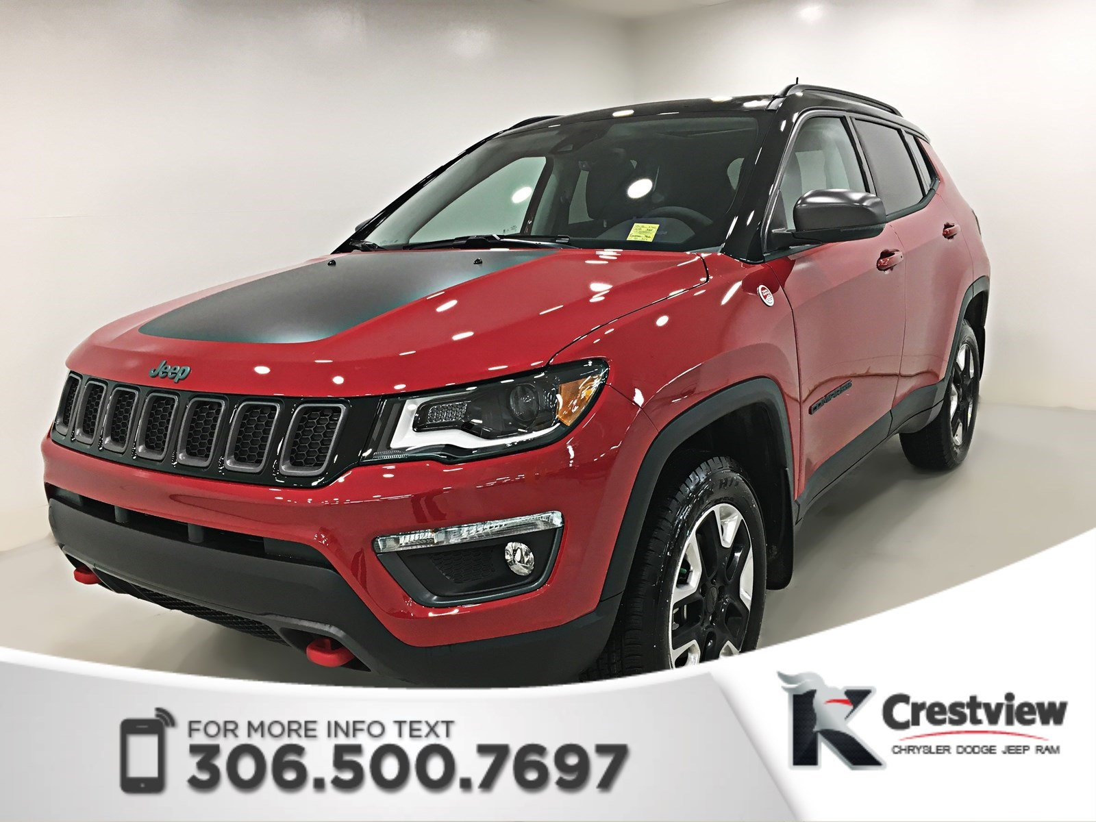 new 2018 jeep compass trailhawk 4x4 sunroof navigation sport utility near moose jaw 18c36. Black Bedroom Furniture Sets. Home Design Ideas