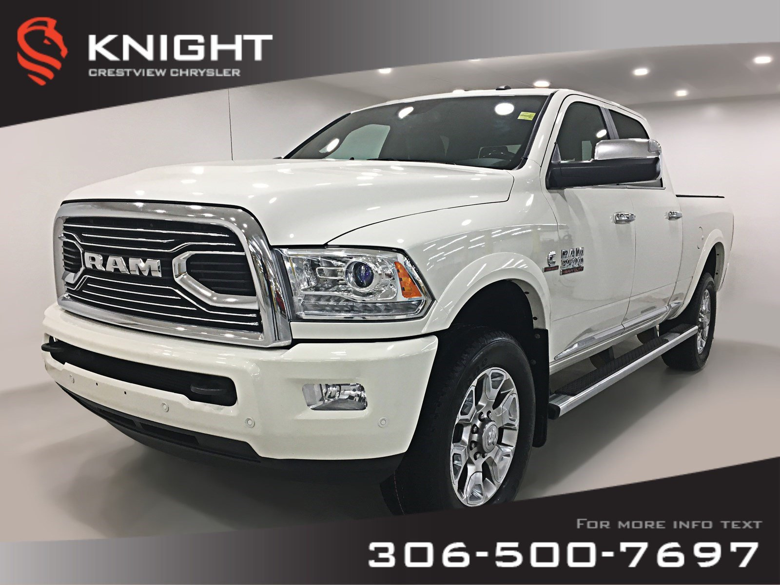 Certified Pre-Owned 2016 Ram 3500 Longhorn Limited Crew Cab | Sunroof | Navigation