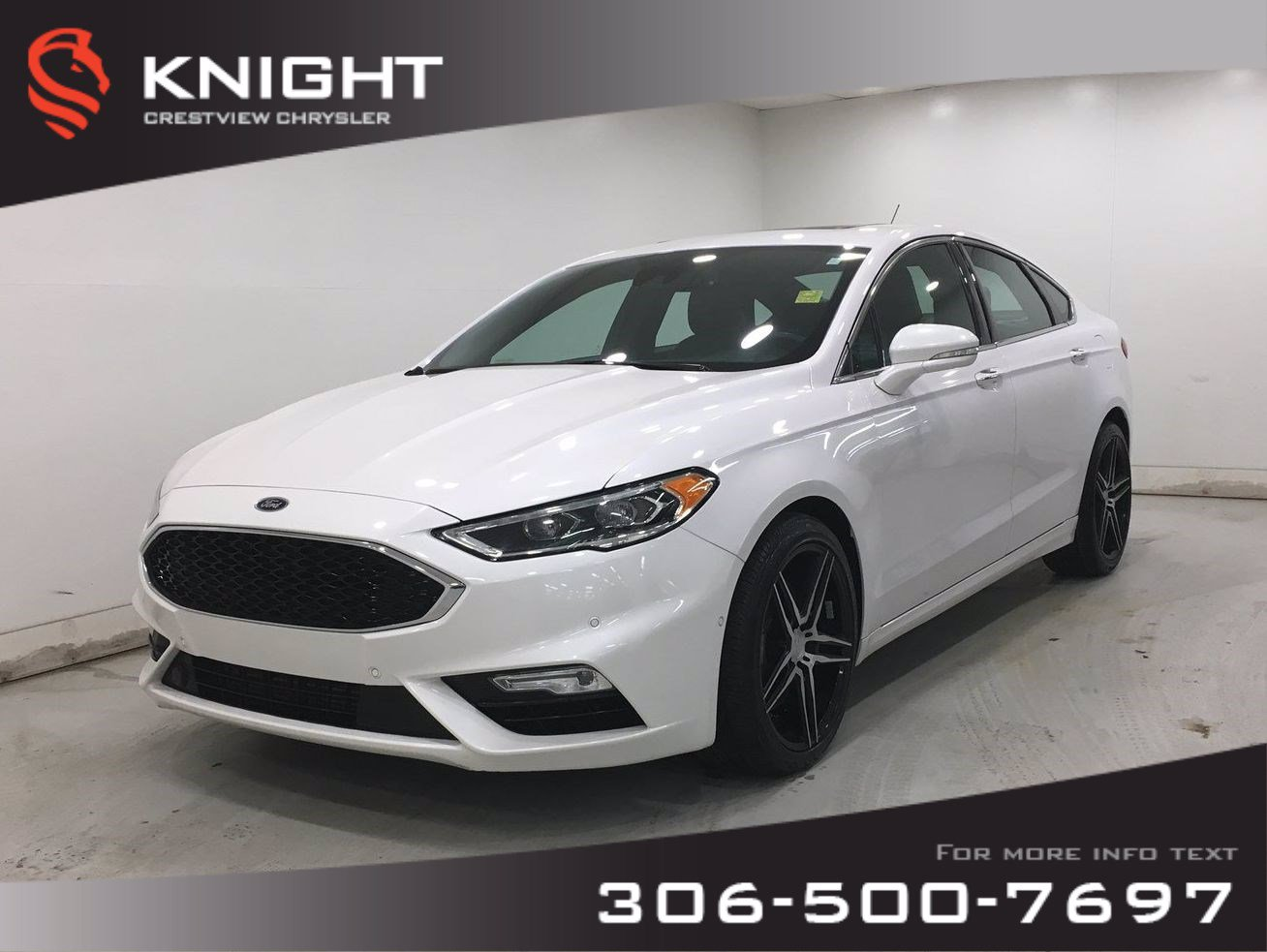 Certified Pre-Owned 2017 Ford Fusion V6 Sport AWD | Leather | Sunroof | Remote Start
