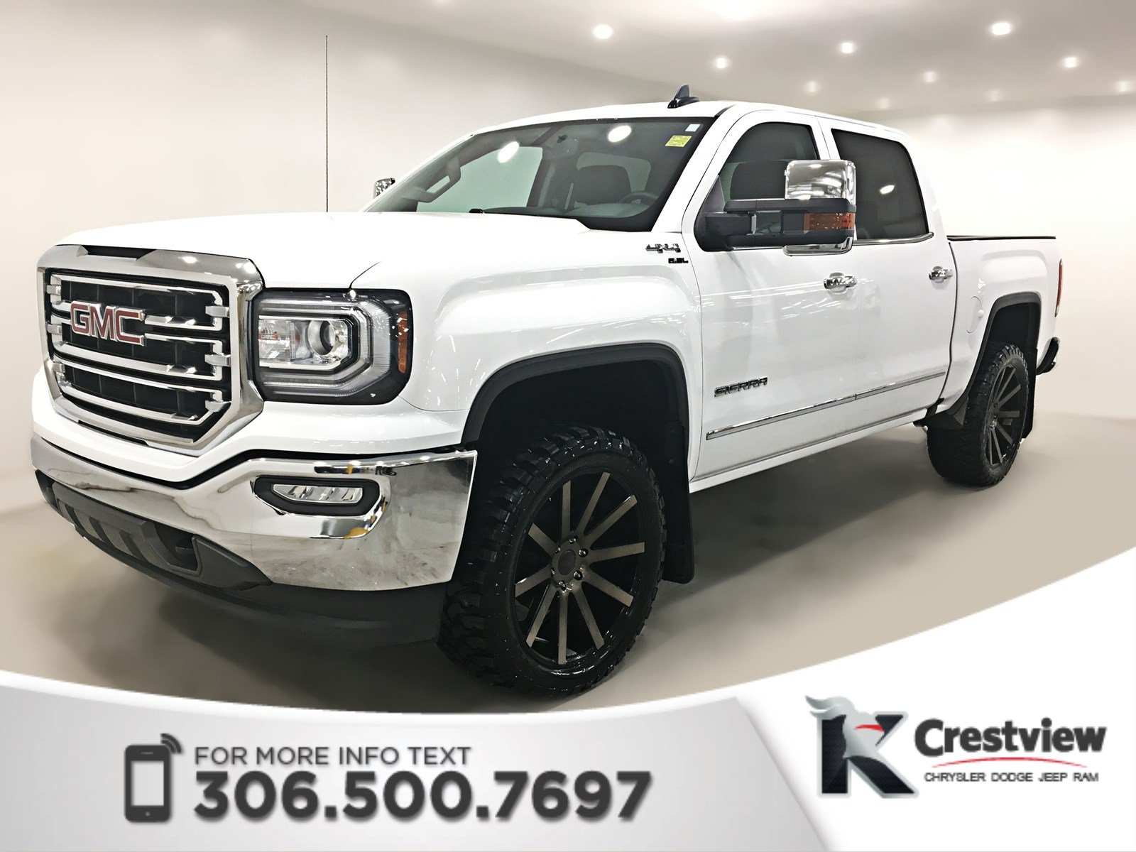 Certified Pre Owned 2017 Gmc Sierra 1500 Slt Crew Cab Leather Sunroof