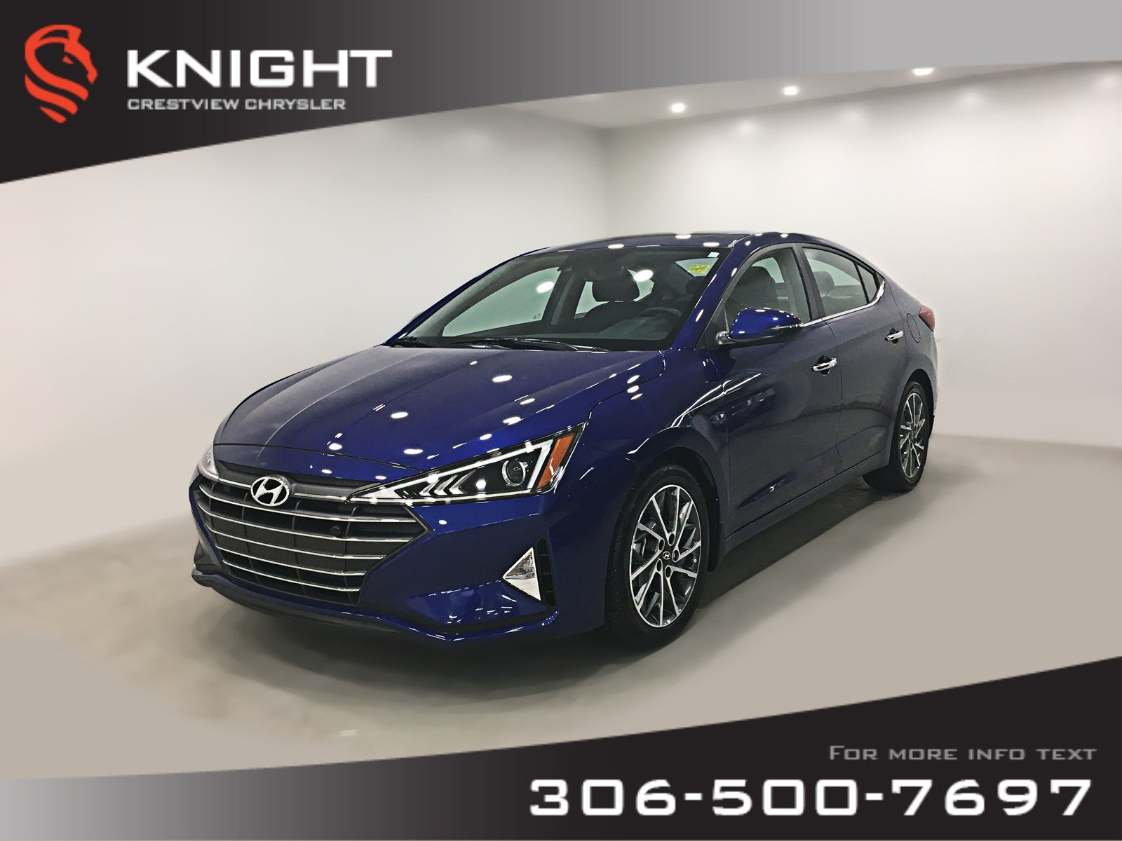 Certified Pre-Owned 2019 Hyundai Elantra Luxury | Leather | Sunroof
