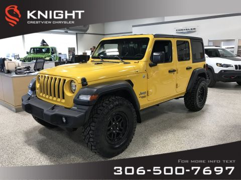 New 2019 Jeep Wrangler Unlimited Sport 'S' | 35 Tires | Heated Seats and Steering Wheel | Remote Start