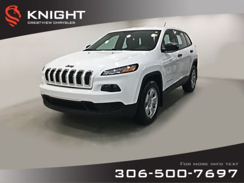 Pre-Owned 2016 Jeep Cherokee Sport 4x4 | Heated Seats and Steering Wheel | Remote Start