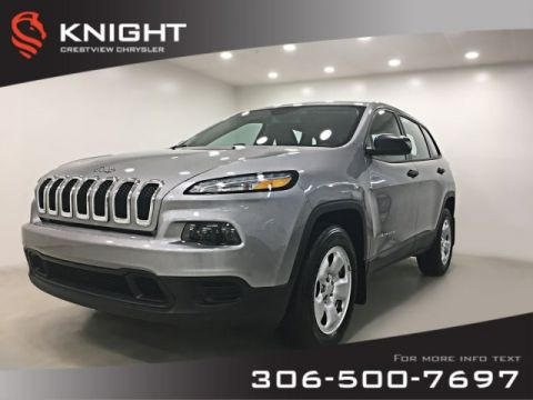 Certified Pre-Owned 2016 Jeep Cherokee Sport 4x4 | Heated Seats and Steering Wheel | Remote Start