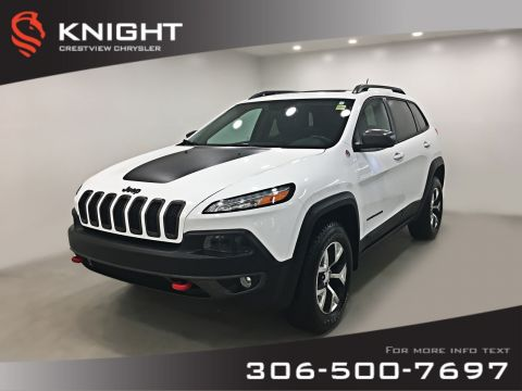 Pre-Owned 2015 Jeep Cherokee Trailhawk 4x4 V6 | Leather | Sunroof | Navigation