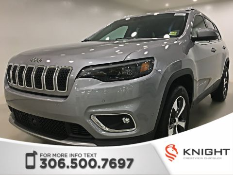 New 2019 Jeep Cherokee Limited 4x4 | Sunroof | Navigation