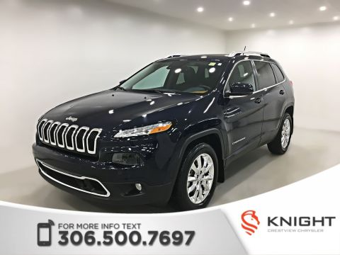 Certified Pre-Owned 2015 Jeep Cherokee Limited 4x4 V6 | Sunroof | Navigation