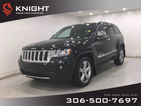 Pre-Owned 2013 Jeep Grand Cherokee Overland | Leather | Sunroof | Navigation | DVD |