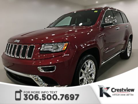 Pre-Owned 2015 Jeep Grand Cherokee Summit | Ventilated Seats | Sunroof | Navigation