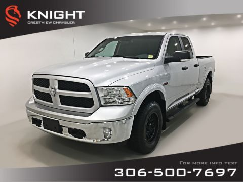 Certified Pre-Owned 2016 Ram 1500 Outdoorsman Quad Cab EcoDiesel | Heated Seats and Steering Wheel | Remote Start
