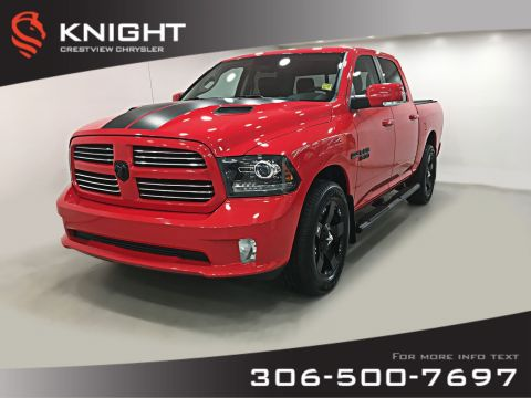 Pre-Owned 2016 Ram 1500 Sport Crew Cab | Heated Seats and Steering Wheel | Sunroof | Navigation