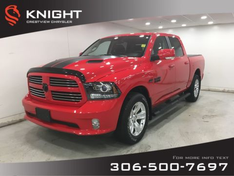 Certified Pre-Owned 2016 Ram 1500 Torred Sport Crew Cab | Heated Seats and Steering Wheel | Sunroof | Navigation