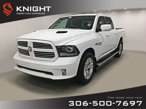 Certified Pre-Owned 2017 Ram 1500 Sport Crew Cab | Leather | Sunroof | RamBox