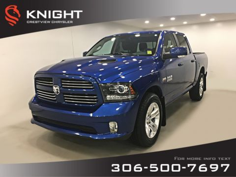 Certified Pre-Owned 2017 Ram 1500 Sport Crew Cab | Heated Seats and Steering Wheel | Remote Start