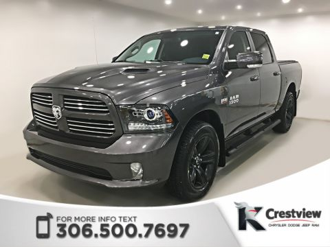 Certified Pre-Owned 2017 Ram 1500 Sport Crew Cab | Leather | Sunroof | Remote Start