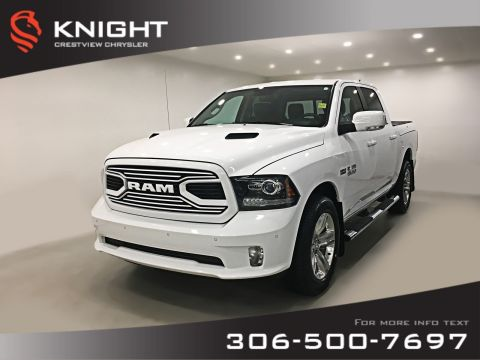 Pre-Owned 2018 Ram 1500 Sport Crew Cab | Leather | Sunroof | RamBox