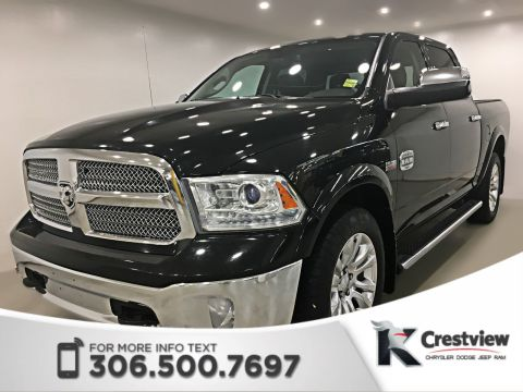 Pre-Owned 2013 Ram 1500 Laramie Longhorn Crew Cab | Sunroof | Navigation