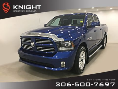 Certified Pre-Owned 2015 Ram 1500 Sport Crew Cab | Heated Seats and Steering Wheel | Navigation | Remote Start