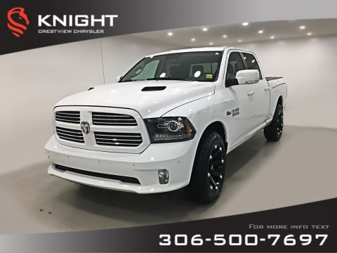 Pre-Owned 2017 Ram 1500 Sport Crew Cab | Leather | RamBox | Remote Start