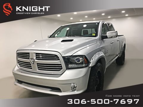 Certified Pre-Owned 2014 Ram 1500 Sport Crew Cab | Levelling Kit | Flares | Leather | Navigation