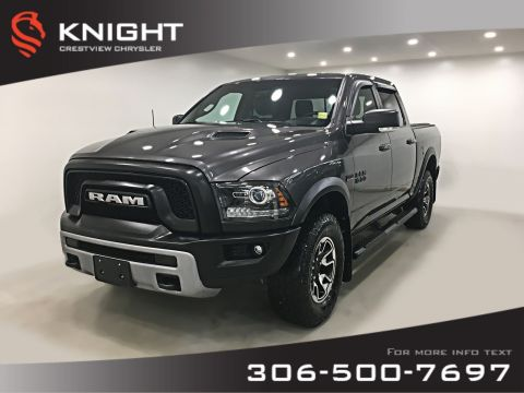 Pre-Owned 2017 Ram 1500 Rebel Crew Cab | Heated Seats and Steering Wheel | Sunroof | Navigation