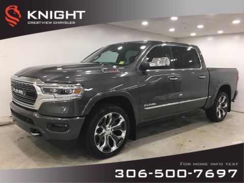 New 2020 Ram 1500 Limited Crew Cab | EcoDiesel | Sunroof | Navigation | 12 Touchscreen