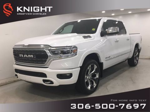 Certified Pre-Owned 2019 Ram 1500 Limited Crew Cab | Sunroof | Navigation | 12 Touchscreen | 4WD Crew Cab Pickup