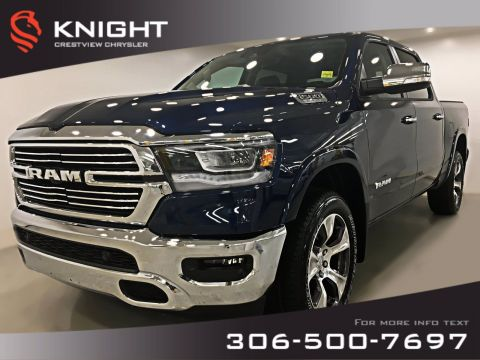 New 2019 Ram 1500 Laramie Crew Cab | Sunroof | Navigation | 12 Touchscreen 4WD Crew Cab Pickup