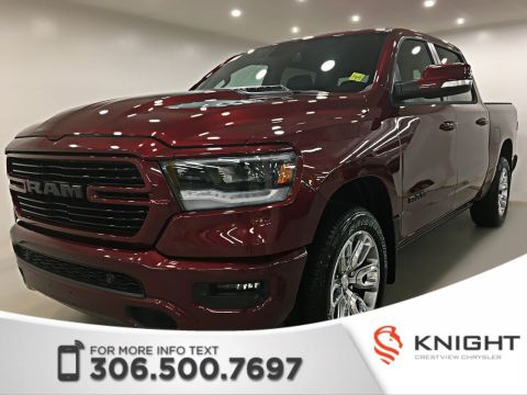 New 2019 Ram 1500 Sport Crew Cab | Sunroof | Navigation 4WD Crew Cab Pickup