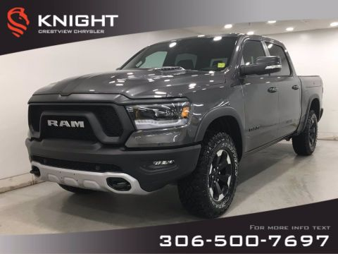 New 2020 Ram 1500 Rebel Crew Cab | Leather | Sunroof | Navigation | RamBox |
