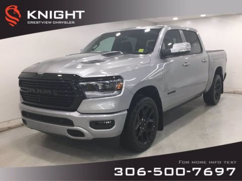 New 2020 Ram 1500 Sport Crew Cab Night Edition | Leather | Sunroof | Navigation | RamBox |