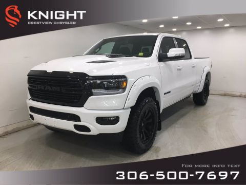 New 2020 Ram 1500 Sport Crew Cab Night Edition | Levelling Kit | Rims & Tires | Fender Flares