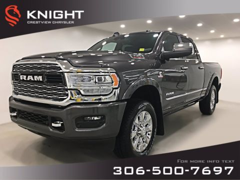 New 2019 Ram 3500 Limited Crew Cab | Sunroof | Navigation | 12 Touchscreen