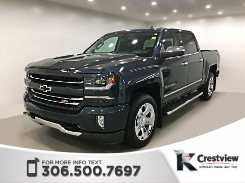 Certified Pre-Owned 2017 Chevrolet Silverado 1500 LTZ Crew Cab | Leather | Remote Start